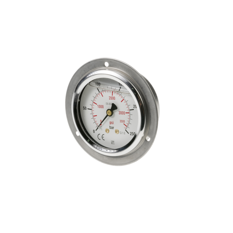 Pressure gauge 0-250 bar/psi