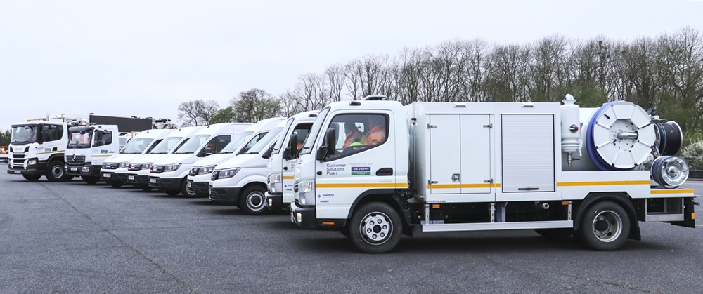 Part of the new fleet supplied to service the WINS contract with Severn Trent
